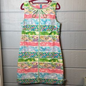 Lilly Pulitzer pattern stripe shift dress